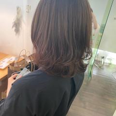 ナチュラル ミディアム パーマスタイル デジタルパーマ ヘアスタイルや髪型の写真・画像