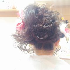成人式 フェミニン ロング ガーリー ヘアスタイルや髪型の写真・画像