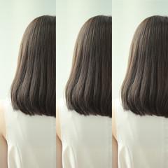 ブラウン アッシュ ロング アッシュグレージュ ヘアスタイルや髪型の写真・画像