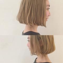 切りっぱなし 外国人風 ハイトーン ラフ ヘアスタイルや髪型の写真・画像