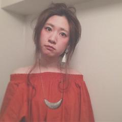 セルフヘアアレンジ ヘアアレンジ ロング アップスタイル ヘアスタイルや髪型の写真・画像