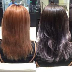 セミロング ショート アッシュ 暗髪 ヘアスタイルや髪型の写真・画像