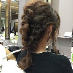 ショート 三つ編み 簡単ヘアアレンジ セミロング ヘアスタイルや髪型の写真・画像