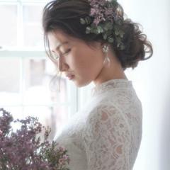 花嫁 上品 結婚式 ロング ヘアスタイルや髪型の写真・画像