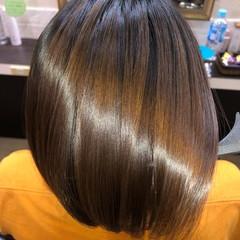 縮毛矯正 ナチュラル ショート 髪の病院 ヘアスタイルや髪型の写真・画像