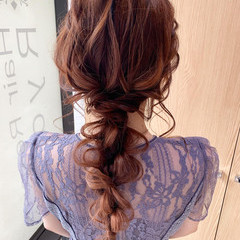 ナチュラル ロング お呼ばれヘア ヘアアレンジ ヘアスタイルや髪型の写真・画像