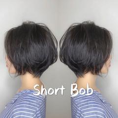 ハンサムショート デート ショートヘア ナチュラル ヘアスタイルや髪型の写真・画像
