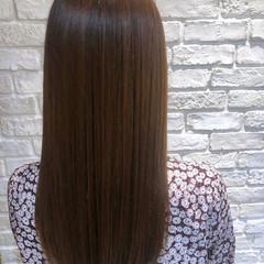 ナチュラルブラウンカラー ナチュラル 縮毛矯正 ロング ヘアスタイルや髪型の写真・画像