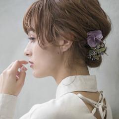 簡単ヘアアレンジ 結婚式 成人式 アンニュイほつれヘア ヘアスタイルや髪型の写真・画像