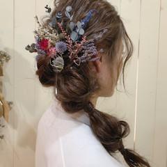 アンニュイほつれヘア 結婚式 ヘアアレンジ 成人式 ヘアスタイルや髪型の写真・画像