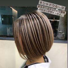 ショコラブラウン ミニボブ ナチュラル ボブ ヘアスタイルや髪型の写真・画像