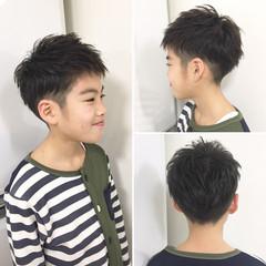 ヘアアレンジ メンズ 子供 ナチュラル ヘアスタイルや髪型の写真・画像