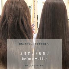 髪質改善 ストレート ナチュラル 縮毛矯正 ヘアスタイルや髪型の写真・画像
