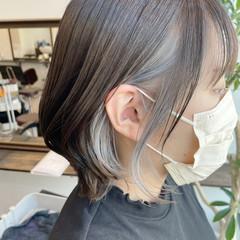 インナーカラー エレガント イヤリングカラー ボブ ヘアスタイルや髪型の写真・画像