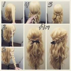 簡単ヘアアレンジ 愛され ロング モテ髪 ヘアスタイルや髪型の写真・画像