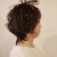 ハイライト ウルフカット ショート マッシュ ヘアスタイルや髪型の写真・画像