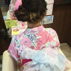ゆるふわ ハイライト 三つ編み ミディアム ヘアスタイルや髪型の写真・画像