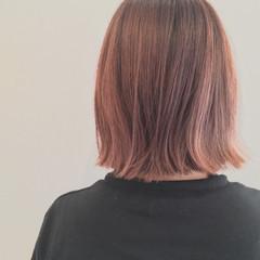 グラデーションカラー ボブ 暗髪 ハイライト ヘアスタイルや髪型の写真・画像