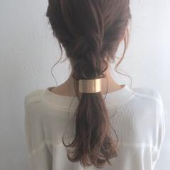 アンニュイほつれヘア 波巻き ヘアアレンジ ロング ヘアスタイルや髪型の写真・画像
