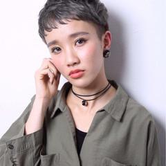 外国人風 モード ベリーショート 刈り上げ ヘアスタイルや髪型の写真・画像
