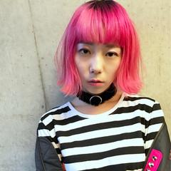 ボブ スポーツ ストリート ピンク ヘアスタイルや髪型の写真・画像