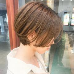 大人かわいい ショートヘア ショート 横顔美人 ヘアスタイルや髪型の写真・画像