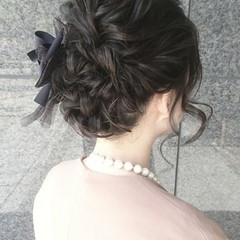 セミロング ハーフアップ ヘアアレンジ ショート ヘアスタイルや髪型の写真・画像