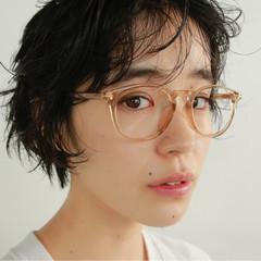 前髪パーマ ショート パーマ 外国人風 ヘアスタイルや髪型の写真・画像