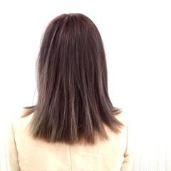 ラベンダー モード 外国人風カラー アッシュ ヘアスタイルや髪型の写真・画像