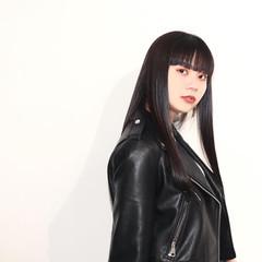 大人ロング 黒髪 髪質改善トリートメント ワイドバング ヘアスタイルや髪型の写真・画像