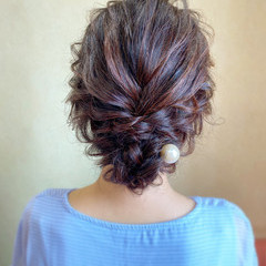 結婚式 ヘアアレンジ デート エレガント ヘアスタイルや髪型の写真・画像