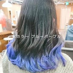 ナチュラル TOKIOトリートメント 裾カラー インナーカラー ヘアスタイルや髪型の写真・画像