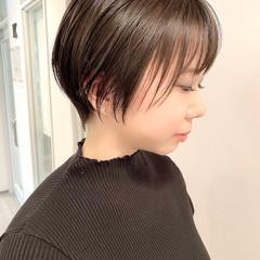 ショート ショートボブ オフィス ショートヘア ヘアスタイルや髪型の写真・画像