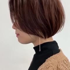 ショートヘア ショートボブ 暖色 ボブ ヘアスタイルや髪型の写真・画像