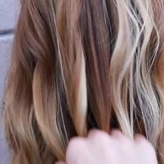 バレイヤージュ ヘアアレンジ 外国人風 ヘアスタイル ヘアスタイルや髪型の写真・画像