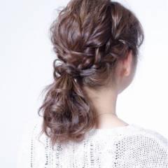 ナチュラル 簡単ヘアアレンジ ゆるふわ ショート ヘアスタイルや髪型の写真・画像