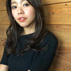 デジタルパーマ 小顔ヘア グレージュ ロングヘア ヘアスタイルや髪型の写真・画像