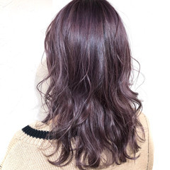 ピンクパープル ストリート ダブルカラー パープルカラー ヘアスタイルや髪型の写真・画像