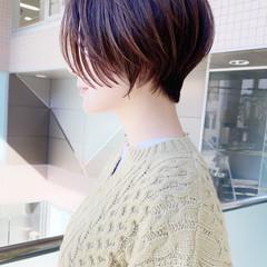 マッシュショート ひし形シルエット 大人可愛い ナチュラル ヘアスタイルや髪型の写真・画像