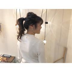 簡単ヘアアレンジ ポニーテールアレンジ デート ポニーテール ヘアスタイルや髪型の写真・画像