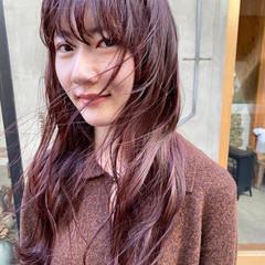 ナチュラル ピンクベージュ ピンク 透明感カラー ヘアスタイルや髪型の写真・画像