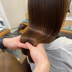 髪質改善 最新トリートメント ロング 髪質改善トリートメント ヘアスタイルや髪型の写真・画像