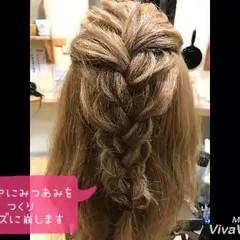 三つ編み 簡単ヘアアレンジ ロープ編み ショート ヘアスタイルや髪型の写真・画像