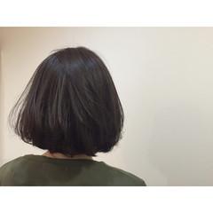 ボブ 色気 アッシュ フェミニン ヘアスタイルや髪型の写真・画像
