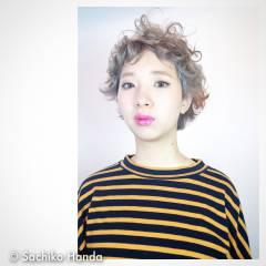 モード 秋 パーマ ストレート ヘアスタイルや髪型の写真・画像