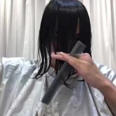 モード カジュアル ミディアム ナチュラルウルフ ヘアスタイルや髪型の写真・画像