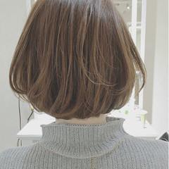 アッシュ ミルクティー ナチュラル ハイライト ヘアスタイルや髪型の写真・画像
