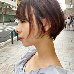 大人ショート ショート ナチュラル ハンサムショート ヘアスタイルや髪型の写真・画像