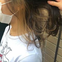ベージュ 透明感カラー ナチュラルベージュ インナーカラー ヘアスタイルや髪型の写真・画像
