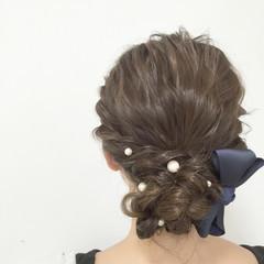 ゆるふわ ヘアアレンジ フェミニン 大人かわいい ヘアスタイルや髪型の写真・画像